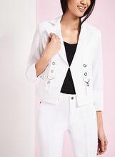 Blazer Vex aspect lin avec détails œillets, Blanc, hi-res