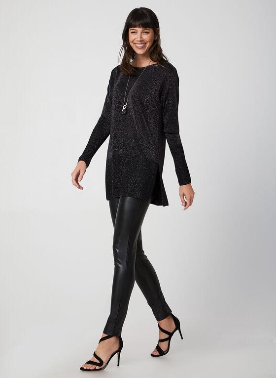 Long Sleeve Lurex Sweater, Grey