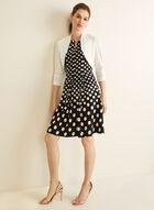 Sleeveless Polka Dot Print Dress, Black