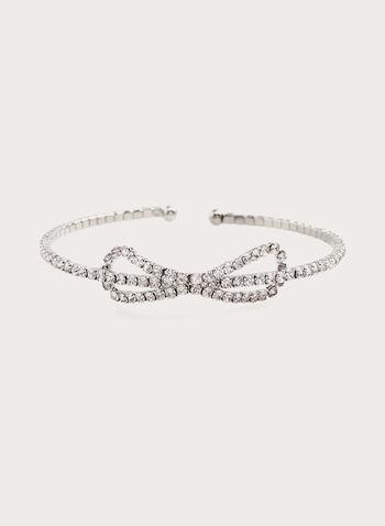 Bracelet fin à cristaux , Argent, hi-res