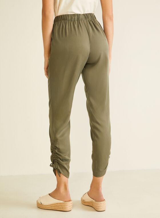 Drawstring Detail Tencel Pants, Green