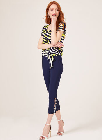 Modern Fit Pull-On Capri Pants, Blue, hi-res