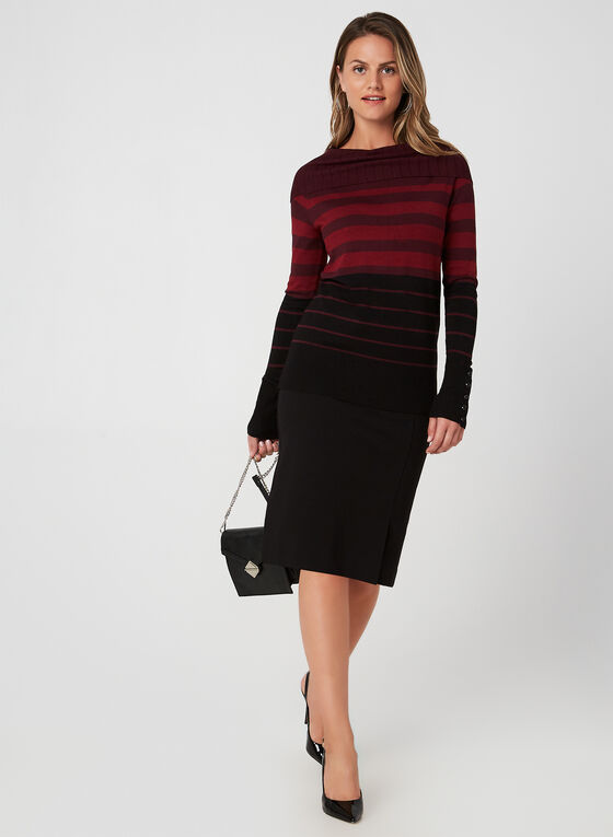 Marilyn Neck Sweater, Red