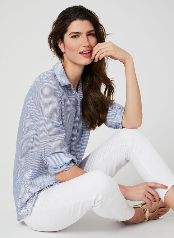 GG Jeans - Embellished Capri Pants, White
