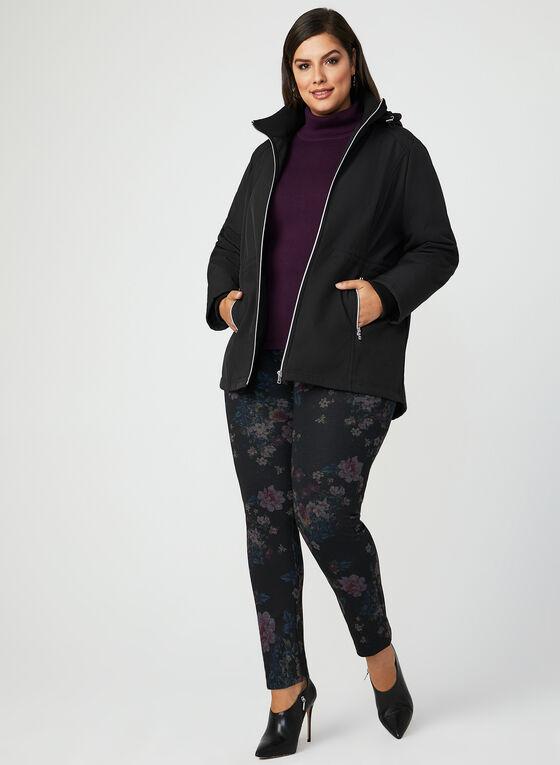 Manteau style anorak avec capuchon amovible, Noir, hi-res