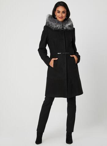 Manteau à capuchon et cabillots, Noir, hi-res