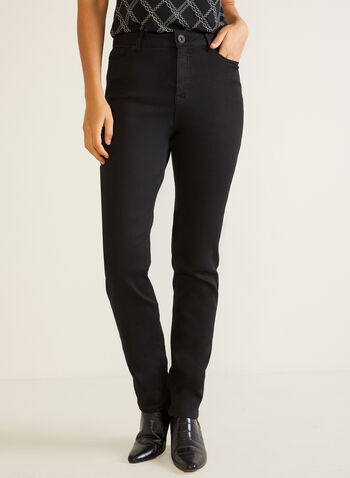 Straight Leg Jeans, Black,  jeans, straight leg, fall winter 2020