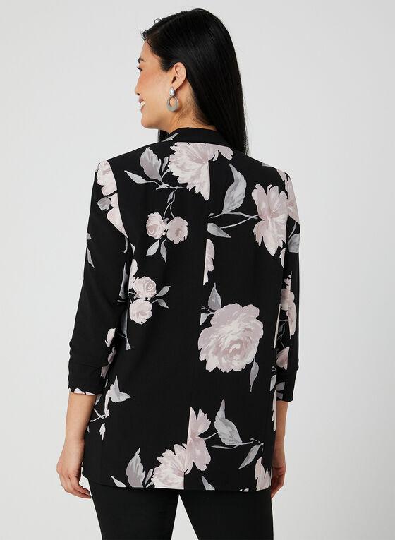Jules & Leopold - Floral Print Blazer, Black, hi-res