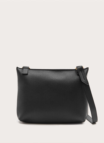 Front Flap Cossbody Bag, Black, hi-res