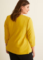 Open Front Eyelet Detail Jacket, Yellow
