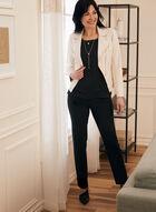 Vex - Blazer en faux cuir et détails zips, Blanc cassé