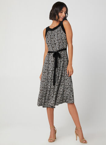 Floral Print Sleeveless Dress , Black, hi-res,  fall 2019, winter 2019, day dress, jersey, paisley print, sleeveless