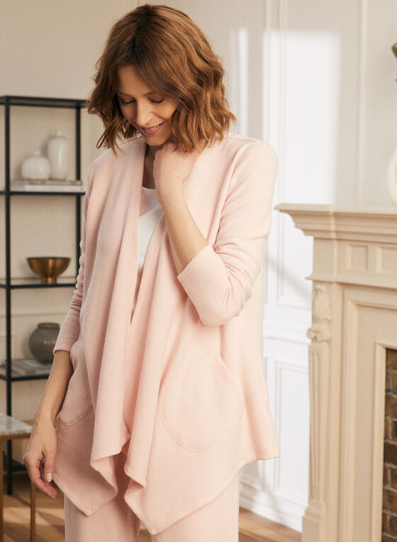 Sweater Knit Cover-Up, Pink