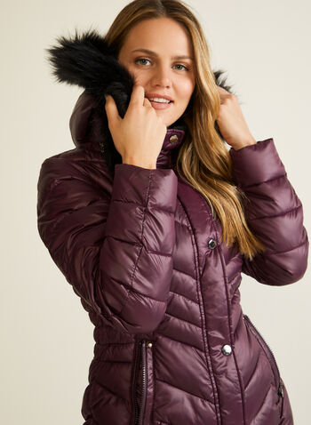 Laundry - Quilted Vegan Down Coat, Pink,  coat, quilted, vegan down, hood, snap buttons, fall winter 2020