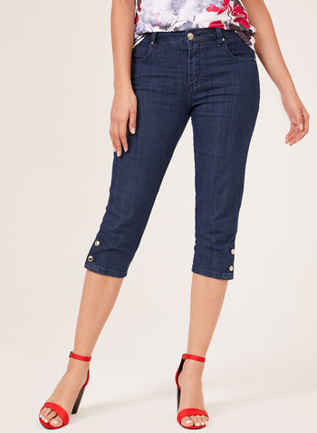 Simon Chang – Signature Fit Denim Capris, Blue, hi-res