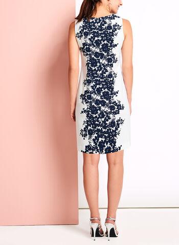 Floral Print Sheath Dress, , hi-res