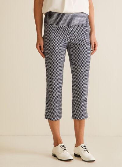 Geometric Print Pull-On Pants