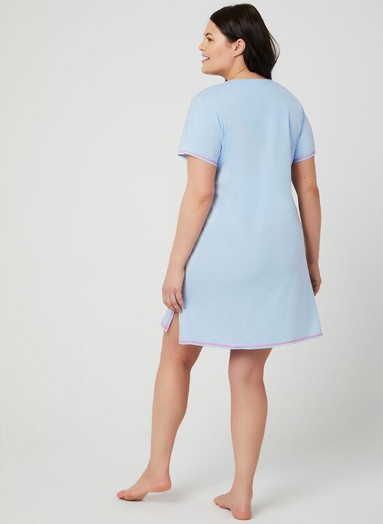 René Rofé - Appliqué Nightgown, Blue, hi-res