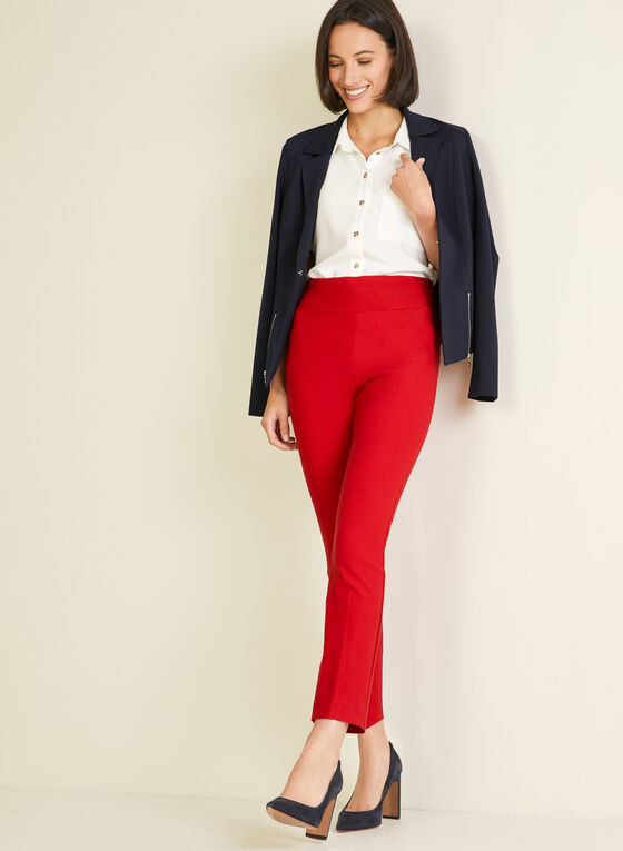Pantalon pull-on étroit, Rouge