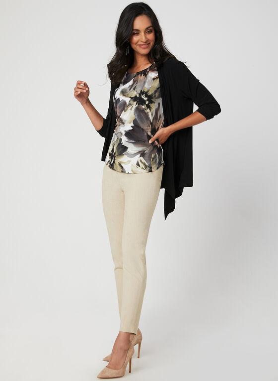 Floral Print Jersey Top, Grey