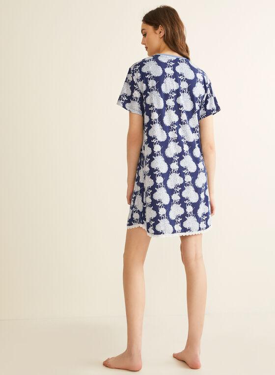 Comfort & Co. - Chemise de nuit imprimée, Bleu