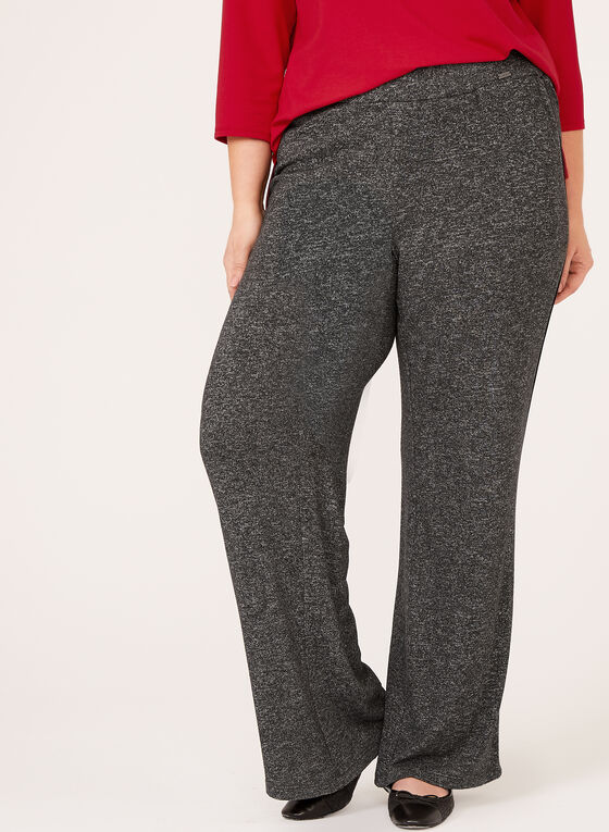 Wide Leg Pull-On Pants, Grey, hi-res
