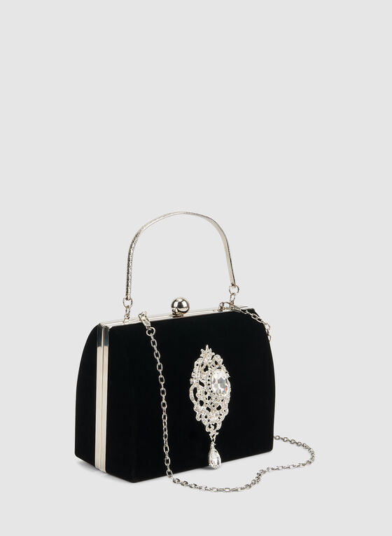 Velvet Evening Bag, Black