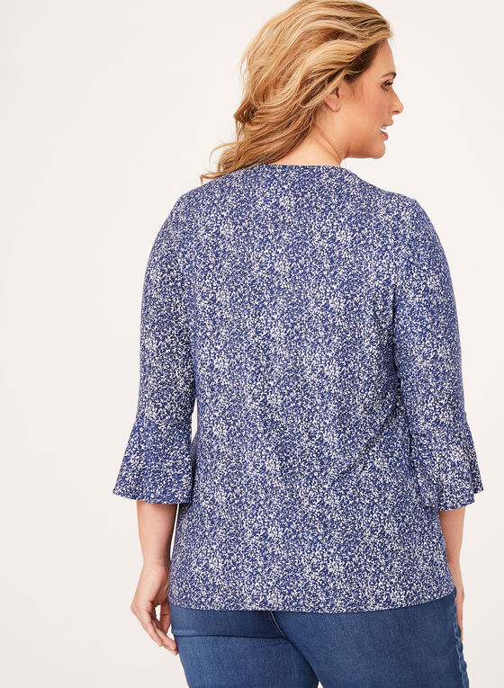 Granite Print Jersey Top , Blue, hi-res