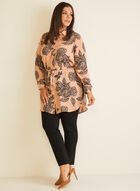 Floral Print Shirt Collar Tunic, Multi