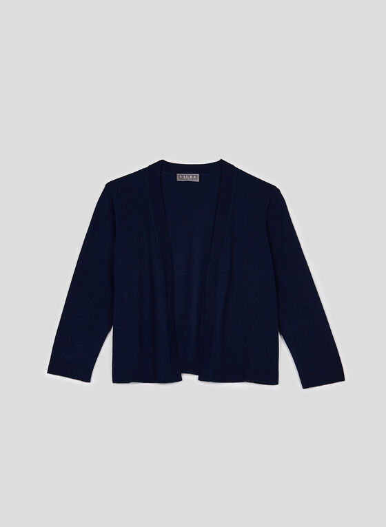 Open Front Bolero, Blue, hi-res