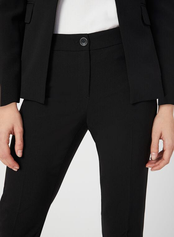 Pantalon coupe moderne à jambe droite, Noir