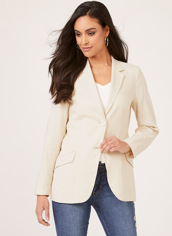 Alison Sheri - Semi Fitted Blazer, Brown, hi-res