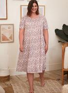 Animal Print Nightgown, Off White