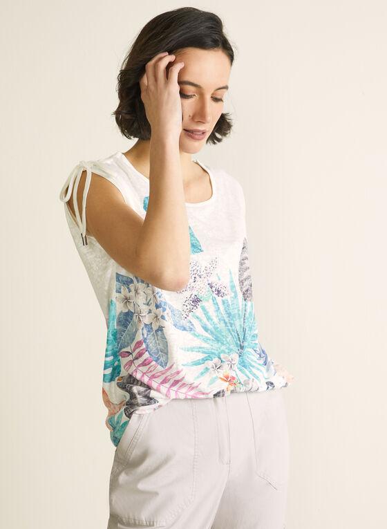 Palm Print T-Shirt, Blue