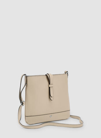 Faux Leather Crossbody Bag, Off White, hi-res,  adjustable strap, spring 2019