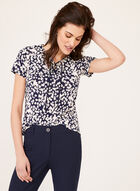 Textured Floral Top , Blue, hi-res