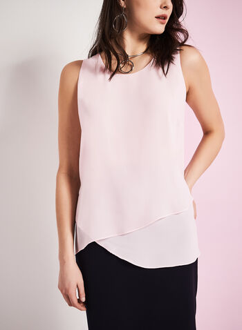 Sleeveless Asymmetric Blouse, , hi-res