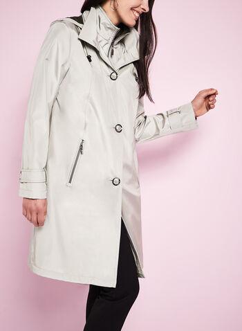 Iridescent A-Line Coat, , hi-res