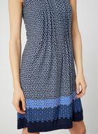 Robe sans manches à motif chaînes, Bleu, hi-res