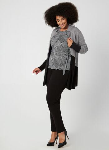 Haut abstrait à imprimé patchwork, Noir, hi-res,  blouse abstraite, haut en jersey