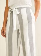 Pantalon moderne rayé à jambe large, Blanc