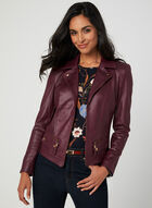 Notch Collar Jacket, Red, hi-res