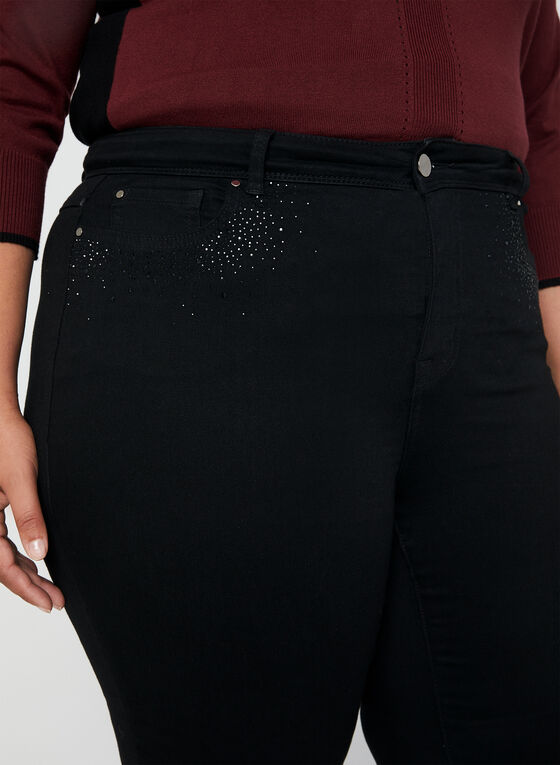 Signature Fit Straight Leg Jeans, Black, hi-res