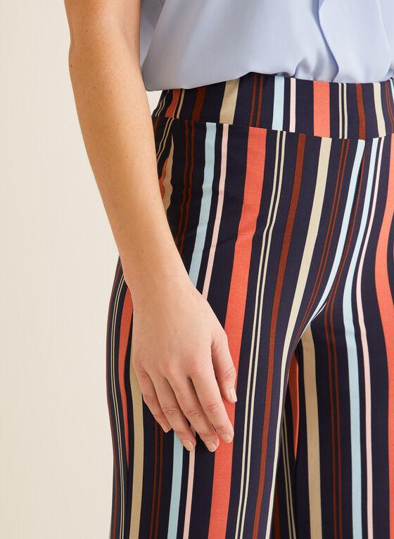 Pantalon coupe moderne rayé, Multi