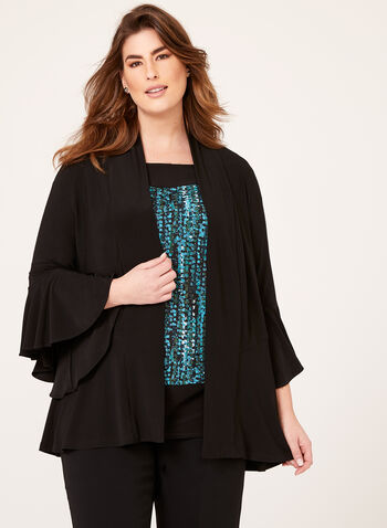 Frank Lyman - Angel Sleeve Cardigan, Black, hi-res