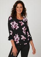 Floral Print Jersey Top, Multi, hi-res