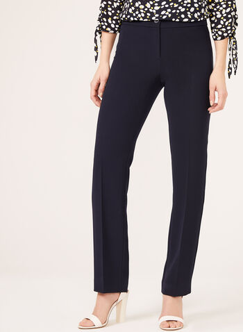 Modern Fit Straight Leg Pants, Blue,  spring, summer