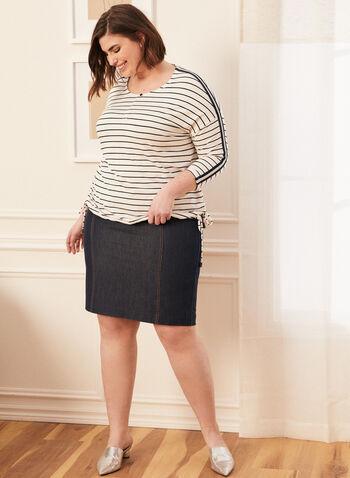 Denim-Like Skirt, Blue,  spring summer 2020, denim, skirt, pencil, straight cut