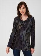 Long Sleeve Cowl Neck Blouse, Blue