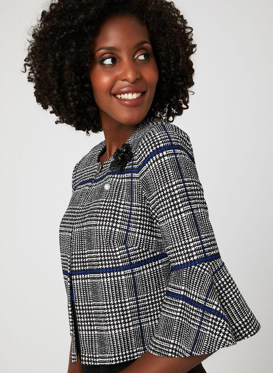 Ensemble robe bicolore et veste à carreaux, Noir, hi-res